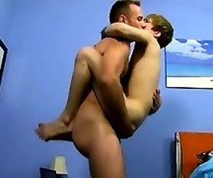 Gay orgy Daddy McKline works his nips while Kyler gets down